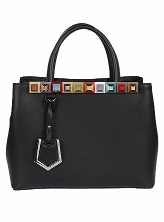 69b90421 Fendi Women's 8BH253SL5F0JBX Black Leather Handbag: Amazon.co.uk ...