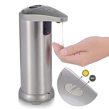 Dispensador de jabón automático, sin tacto, funciona con pilas, dispensador de jabón eléctrico