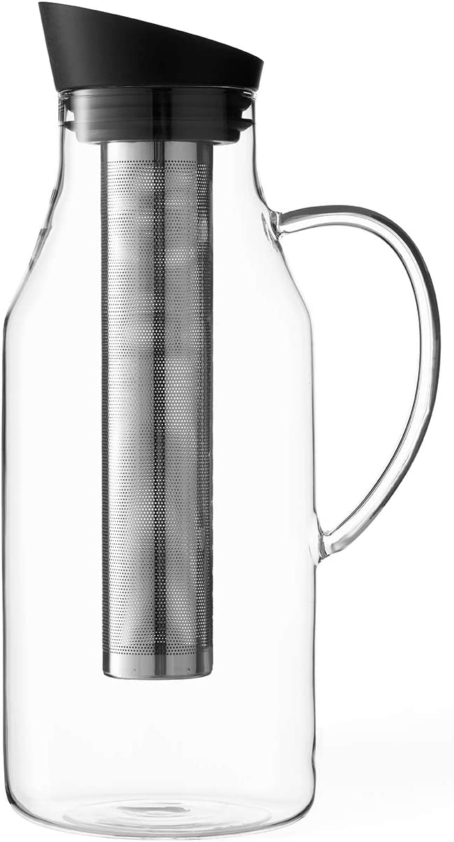 VIVA Infusion Iced Tea Carafe, Black, 62 Ounce