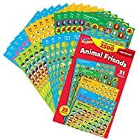 TREND enterprises, Inc. Animal Friends superSpots Stickers Variety Pack, 2500 ct