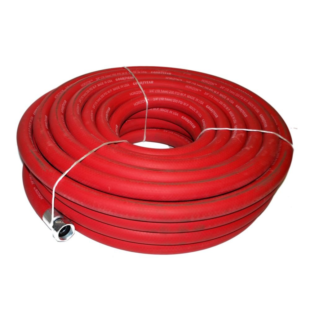 NoTrax Red HD 75' Hot Water Hose