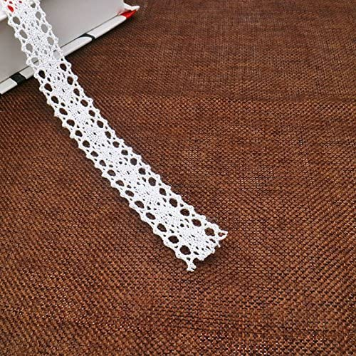 Prettyia 25 Yards Vintage Cotton Crochet Lace Trim Sewing Ribbon Trimming Craft
