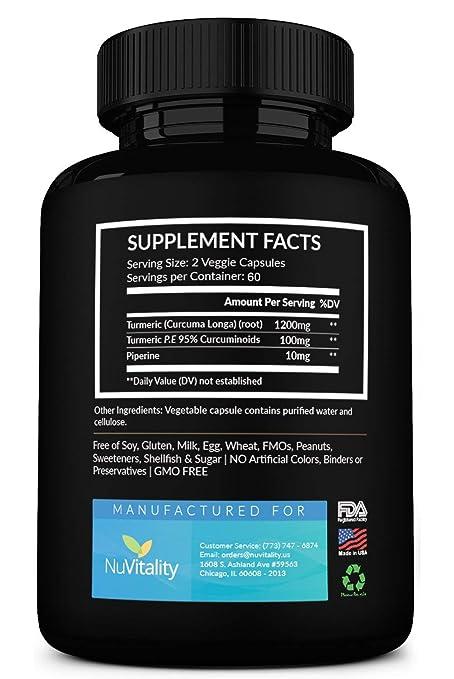 Amazon Com Turmeric Curcumin With Piperine Black Pepper Extract
