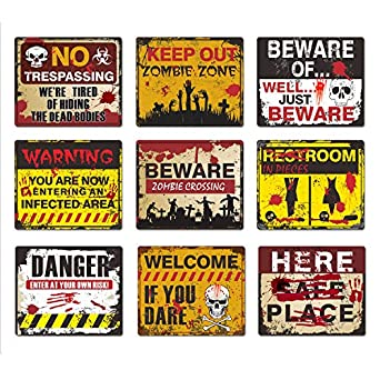 HALLOWEEN HANGING DOOR SIGN SPOOKY BLOOD PARTY DECORATION HAUNTED SCARY WOOD