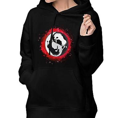 fc5ec0c459ca Amazon.com  Cool Yin Yang Unicorn Women Pullover Hoodie Hooded Sweatshirt  Sweaters with Pocket  Clothing