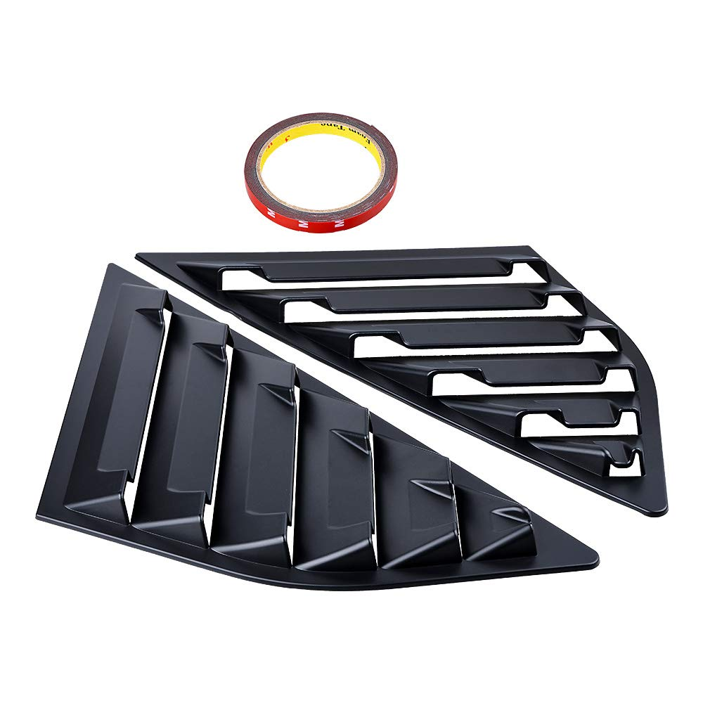 Astra DepotS Compatible with Ford Focus SE SEL ST RS MK3 Hatchback 2PCS Rear Window Quarter Side Vent Window Louvers Scoop Cover Matte Black