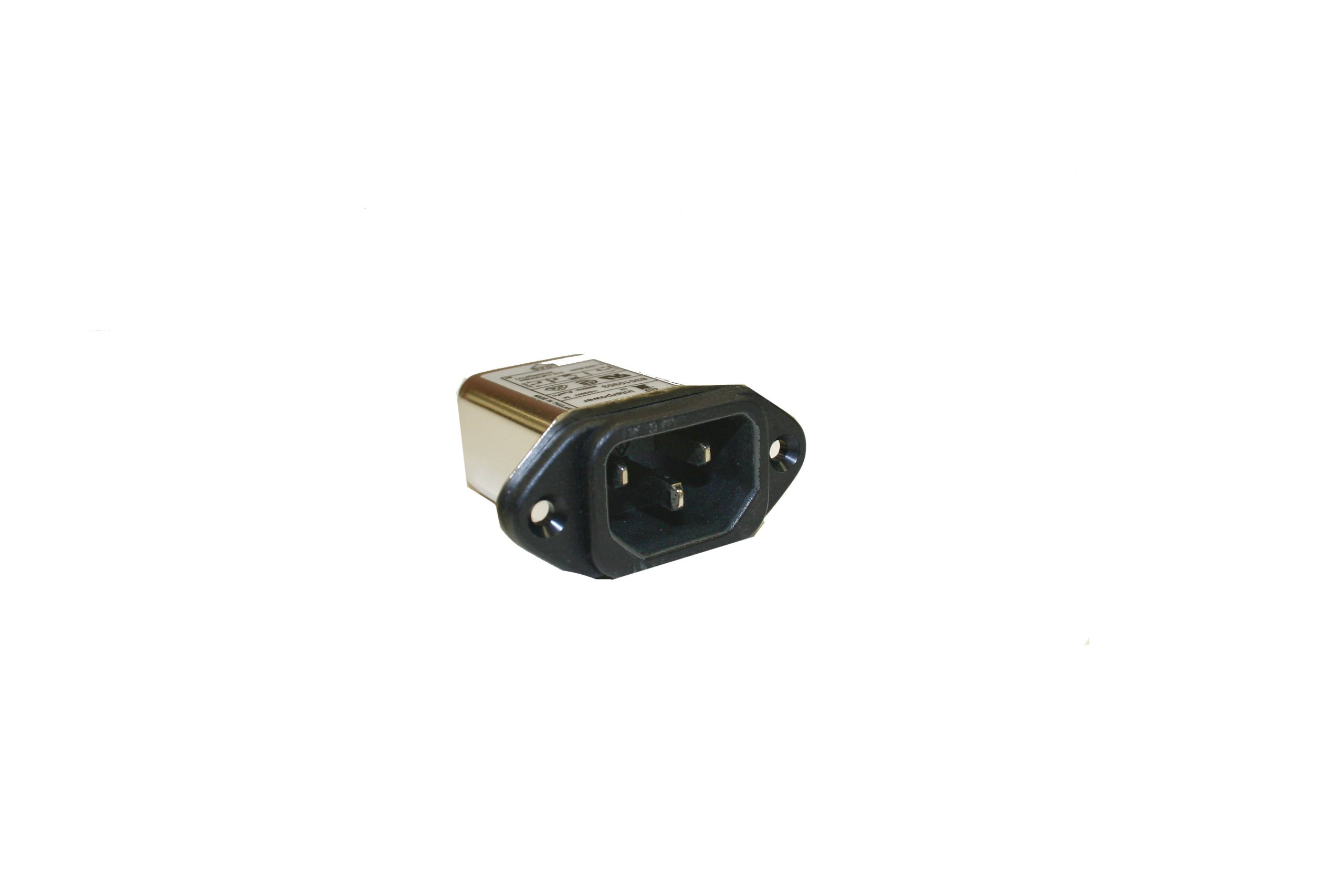 Interpower 83510353 Two Function Power Entry Module, C14 Inlet, Filter, 3A Current Rating, 115/250VAC Voltage Rating