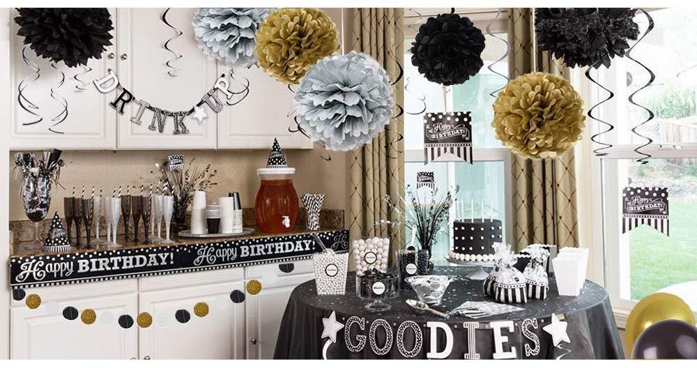 con pompon di carta Decorazioni per feste in maschera e compleanno Sinrextraonry Sinrextraonry ghirlanda di carta circolare palloncini ghirlanda di nappe 58 pezzi