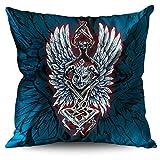 wellcoda Helmet Play Geek Gaming War Icon Linen Cushion/Pillow 45cm x 45cm