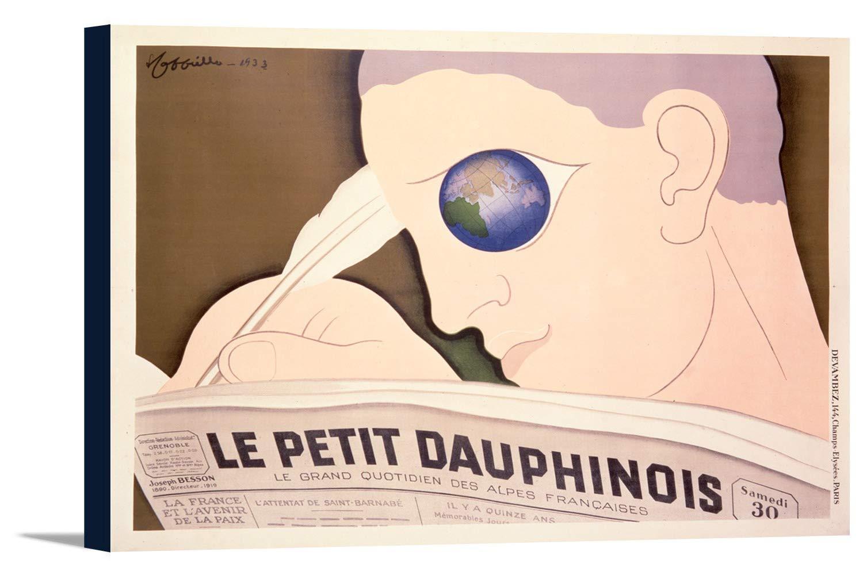 Le Petit Dauphinoisヴィンテージポスター(アーティスト: CAPPIELLO )フランスC。1933 18 x 12 Gallery Canvas LANT-3P-SC-74826-12x18 18 x 12 Gallery Canvas  B01EBQHLHI