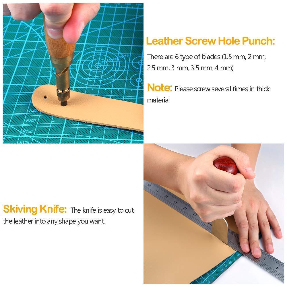 Papier und Stoff etc. Leder Overstitch Nähwerkzeuge für Leder
