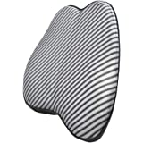 AmazonBasics Memory Foam Lumbar Back Support Pillow - Striped