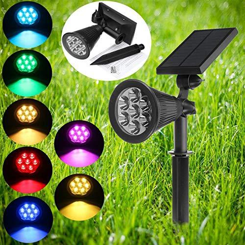 Appreciis Solar Lights 2-in-1 Solar Powered 7 LED Adjustable