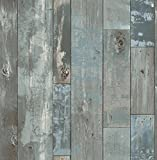 A-Street Prints 2540-24053 Deena Blue Distressed Wood Wallpaper Deena Distressed Wood Wallpaper