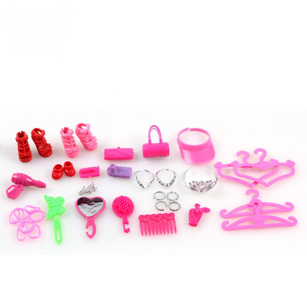 386d94dae3f ... Barbie Clothes 58Pcs Princess Dress Accessories Shoes Clothes For Barbie  Doll Include 10 Pcs Barbie Clothes ...