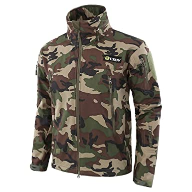 a83303bc25f63 Hunting Jackets Waterproof Hunting Camouflage Hoodie for Unisex Military  Camo and Tactical camouflage (S,