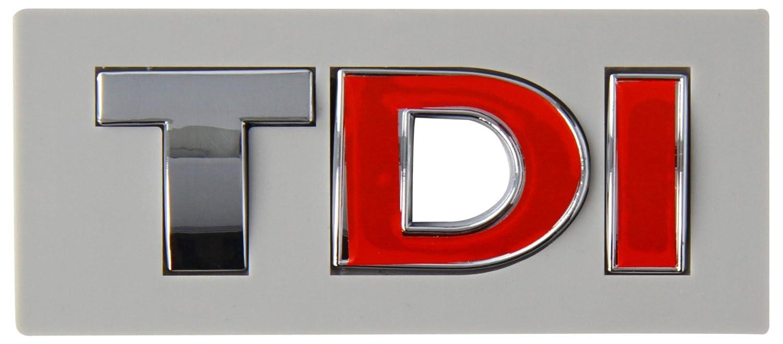 SUMEX Log1436 - Emblema Tdi Cromado -Rojo, 28X80 mm Suministros Exteriores S.A.