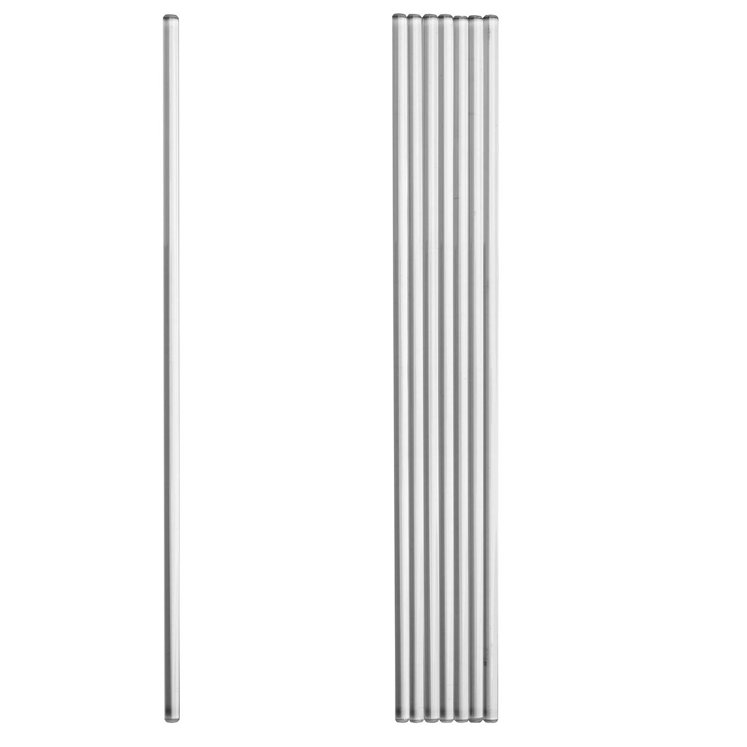 Zyaner Glass Rod 300 mm (12 in × 0.23 in) Glass Stirring Rod Pack :8 pcs of stir Sticks