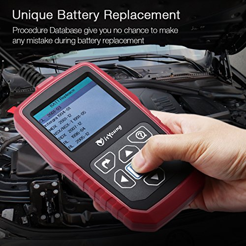 isYoung 12V&24V 100-2000 CCA Automotive Car Battery Load Tester, Cranking and Charging System Test Scan Tool for Cars, Heavy Duty Trucks, Motorcycle, and Marine Boad by isYoung (Image #6)