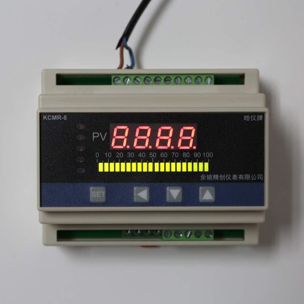 BIlinli 4-20mA DC-Wasser-Fl/üssigkeitsstand-Druckregler mit 4-Wege-Relais-DC24V-Ausgang