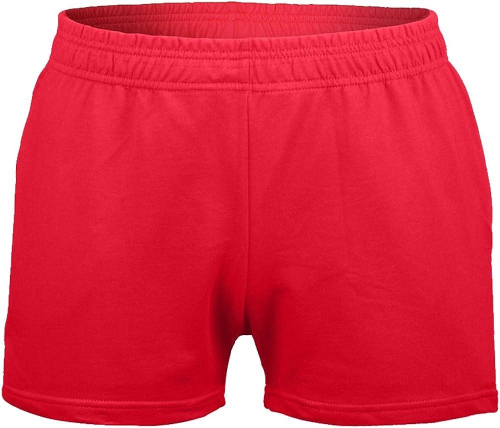 Muscle Alive Hombres Gimnasio Culturismo Rutina de Ejercicio Men Pantalones Cortos Algod/ón