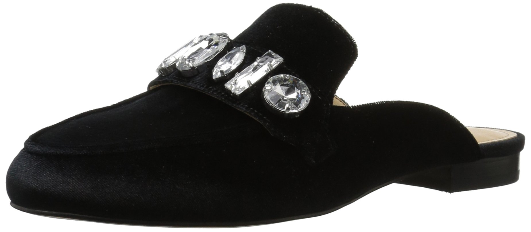 The Fix Women's Francesca Slip-On Loafer with Large Jewels, Black, 9 B US