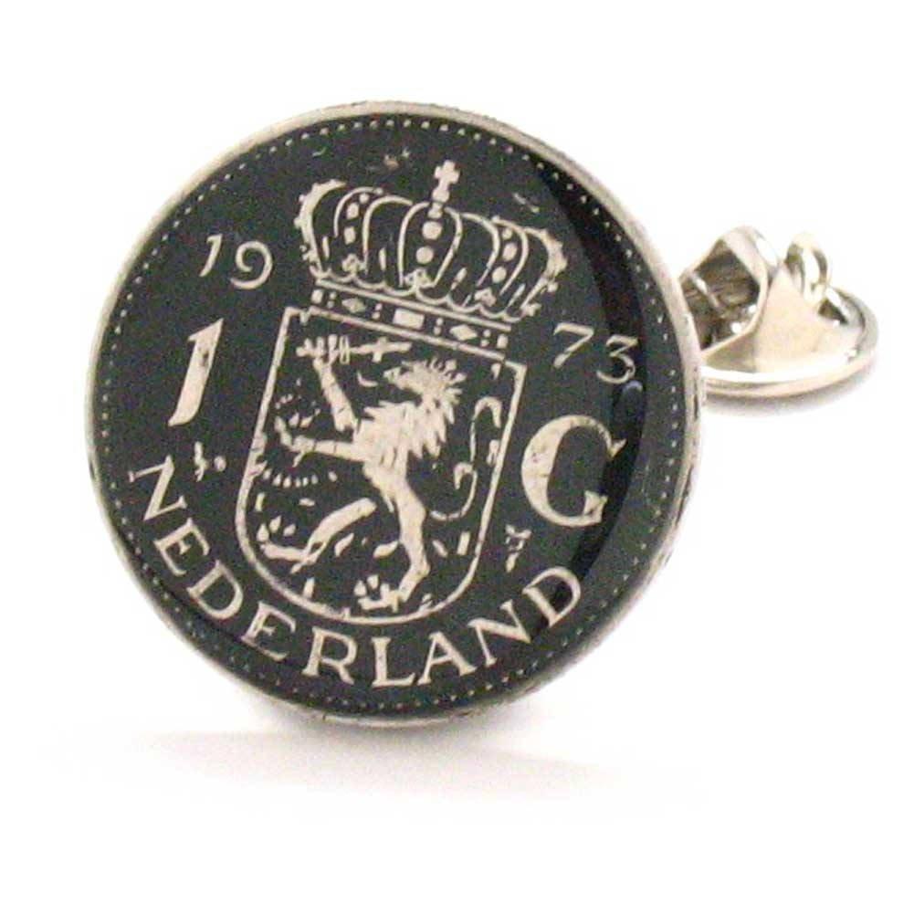 Netherlands Coin Tie Tack Lapel Pin Flag Nederland Dutch Holland Amsterdam Stropdas Reversspeldje juwelen