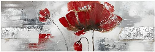 Bouclair Canvas Flower Art Modern Contemporary Home Decor Vintage Wood Background Rustic Home Decoration Ready To Hang 60 W X 20o H Amazon Ca Home Kitchen