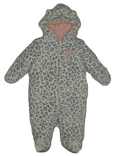 b361e81da8f6 Amazon.com  Little Wonders Newborn Girl s Hooded Fleece Pram Suit ...
