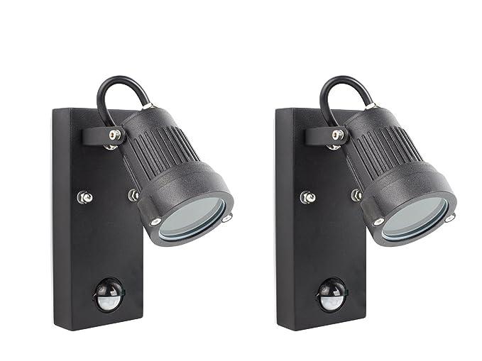 Set di downlight luci da parete per esterni con sensore di movimento