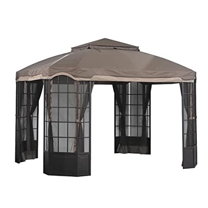 Tremendous Sunjoy Replacement Canopy Set For Sears Bay Window Gazebo Interior Design Ideas Oxytryabchikinfo