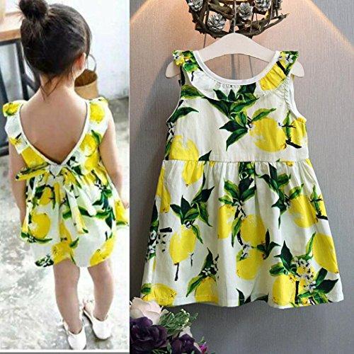 Celendi Toddler Girl Dress Sleeveless Dress Pattern Princess Party Baby Clothes