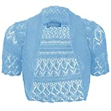 Product review for Thever Women Short Sleeve Knitted Crochet Shrug Bolero Cardigan Ladies Crop Top