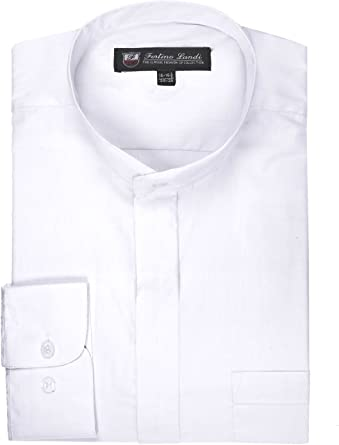 Many Colors Available FORTINO LANDI Men/'s Long-sleeve Banded Collar Shirt