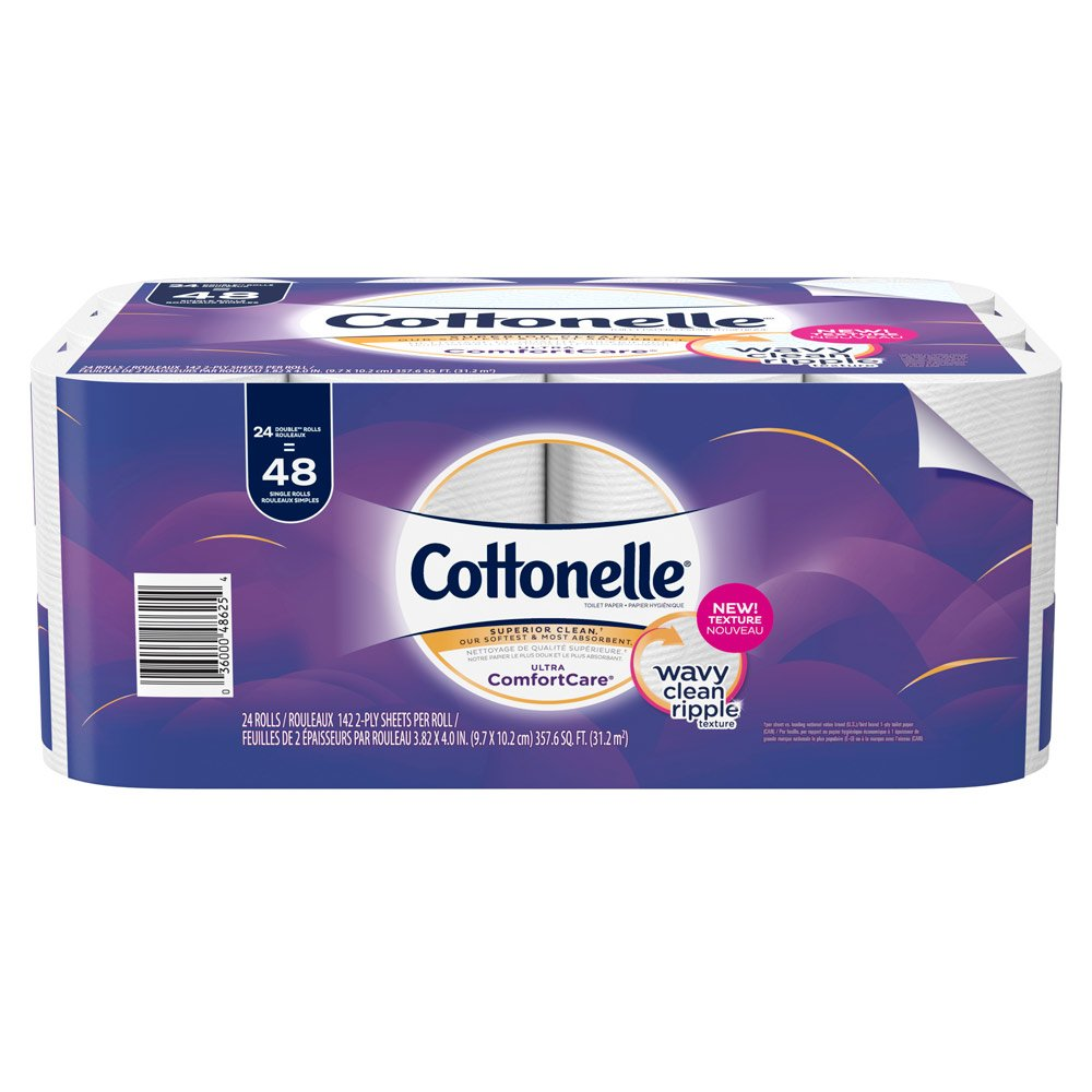 Cottonelle Ultra ComfortCare Toilet Paper, Soft Bath Tissue, 24 Double Rolls
