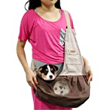 COSVAR Pet Sling Carrier, Hands-free Dog Sling Bag Shoulder Carry Bag with Extra Pocket for Cat Dog Puppy Kitty Rabbit Small Animals up to 9 lb