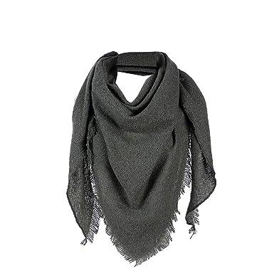 8b506f8eb037 WUDUBE Femme Cachemire Emballage Écharpe,Couleur unie Épaissir Châle En  vrac Batteur L automne