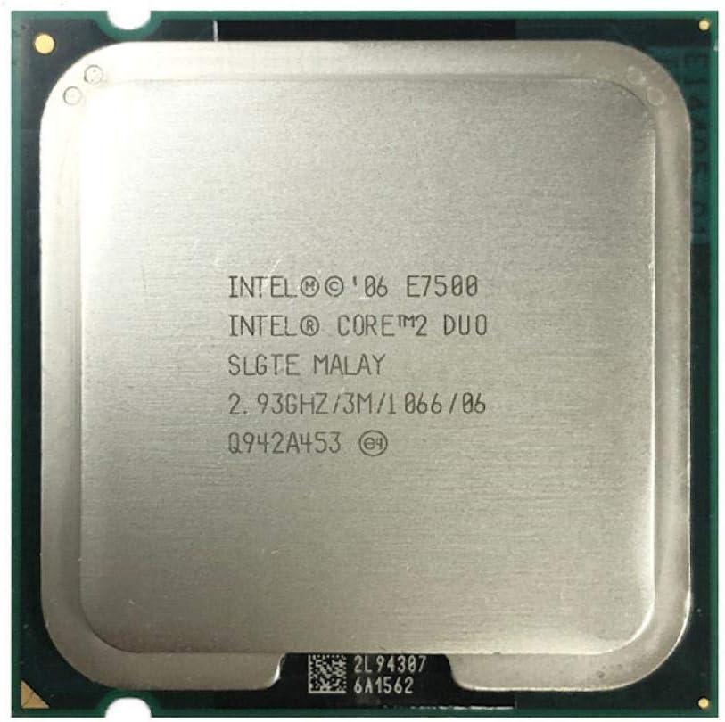Intel Core 2 Duo Processor E7500 2.93GHz LGA 775 Dual-Core Desktop CPU Intel Central Processing Unit Tested 100/% Working
