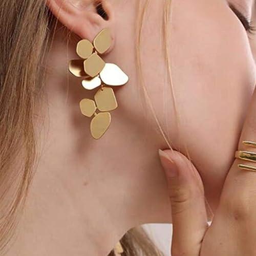 Monoria Studio Handmade Pierced or Clip on for Non pierced geometric small round circle gold sandstone earrings