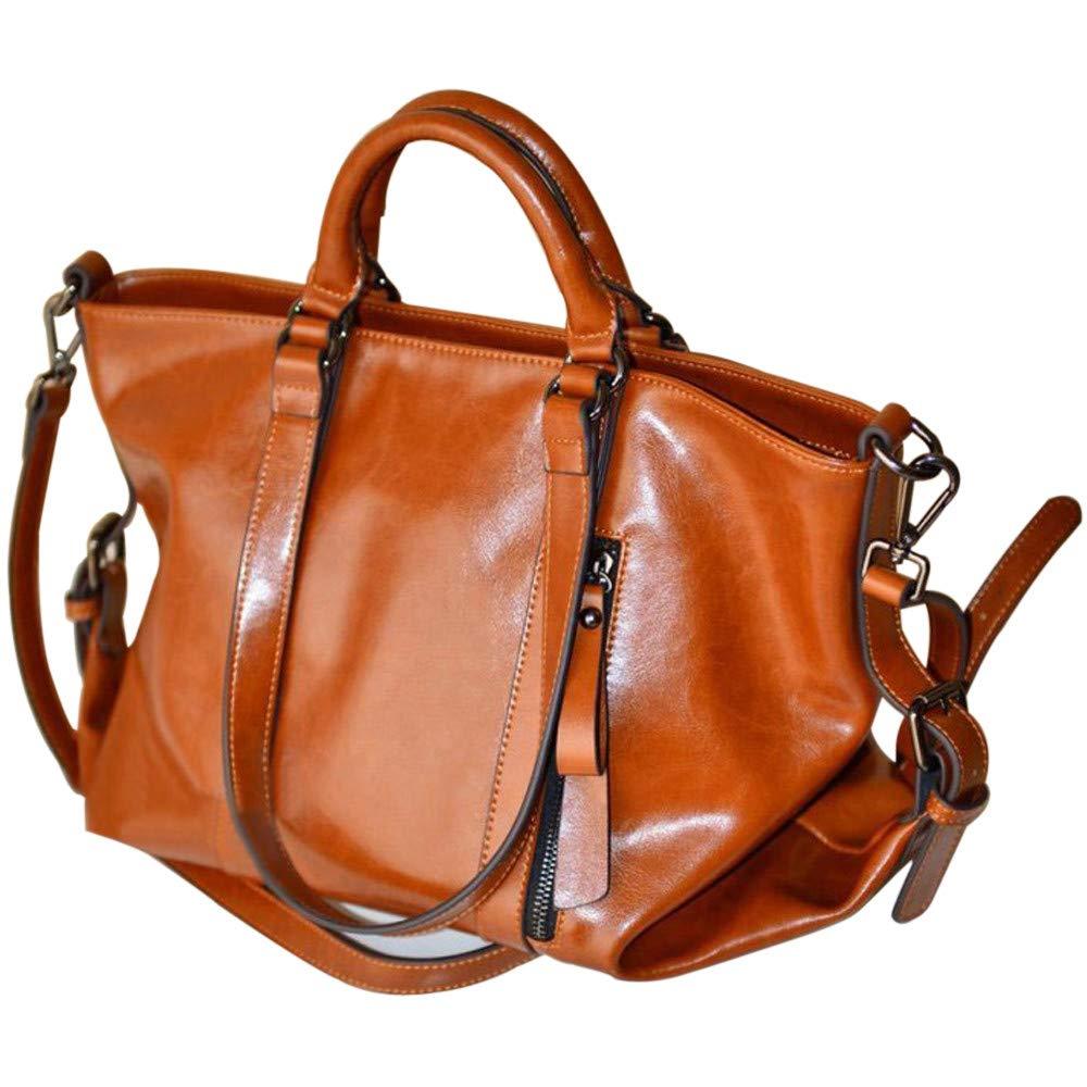 00dacfa929 Amazon.com  JESPER Fashion Leather Bags Tote Leather Handbags Women  Messenger Bags Shoulder Bags Brown  JESPER