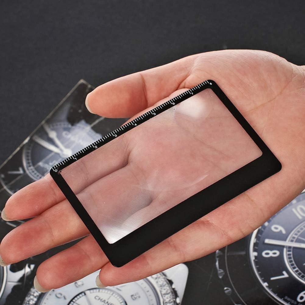 Balai Loupe rectangulaire loupe feuille forme de carte portable poche allumeur solaire r/ègle de d/épart de feu en plein air camping voyage multi-outil accessoires