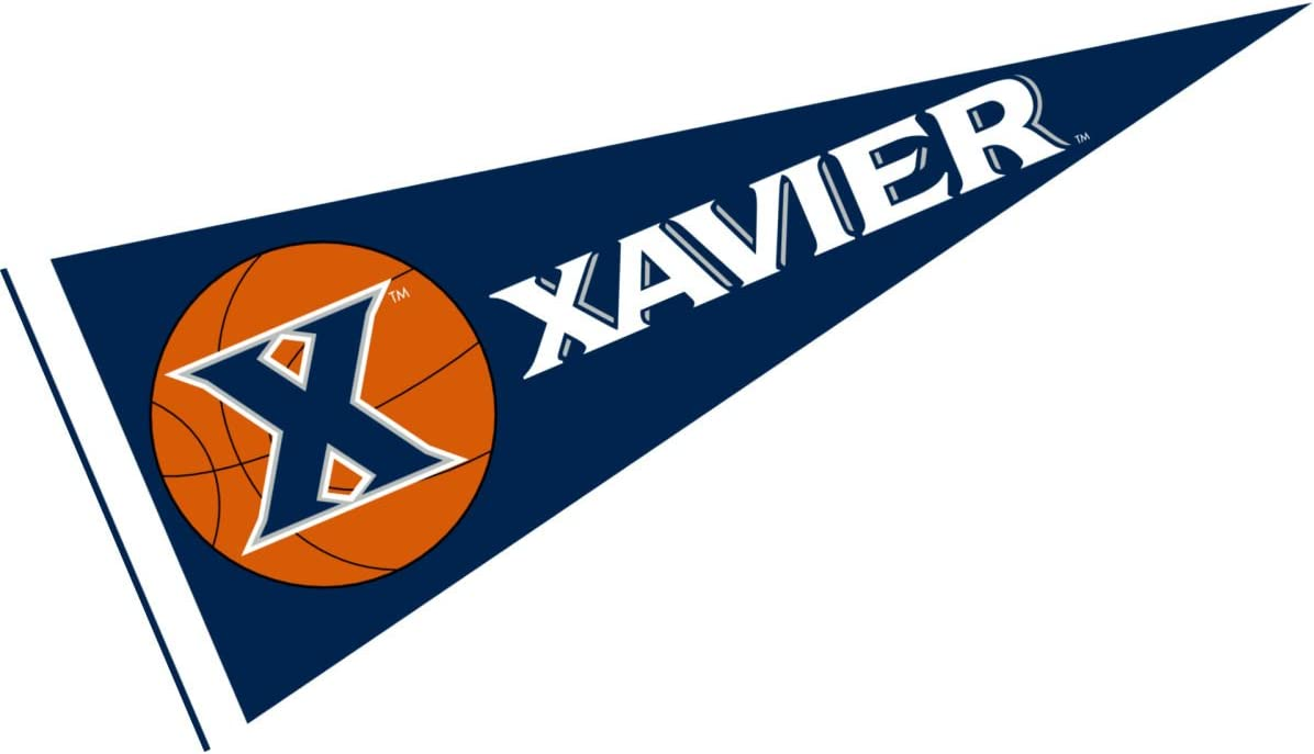 College Flags /& Banners Co Xavier University Basketball Pennant