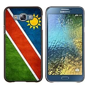 """Be-Star Único Patrón Plástico Duro Fundas Cover Cubre Hard Case Cover Para Samsung Galaxy E7 / SM-E700 ( Bandera nacional de la Serie-Namibia"""" )"""