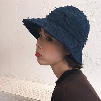 REIGORHI Sombrero De Sol Mujer Moda Suave Simple Color Sólido ...