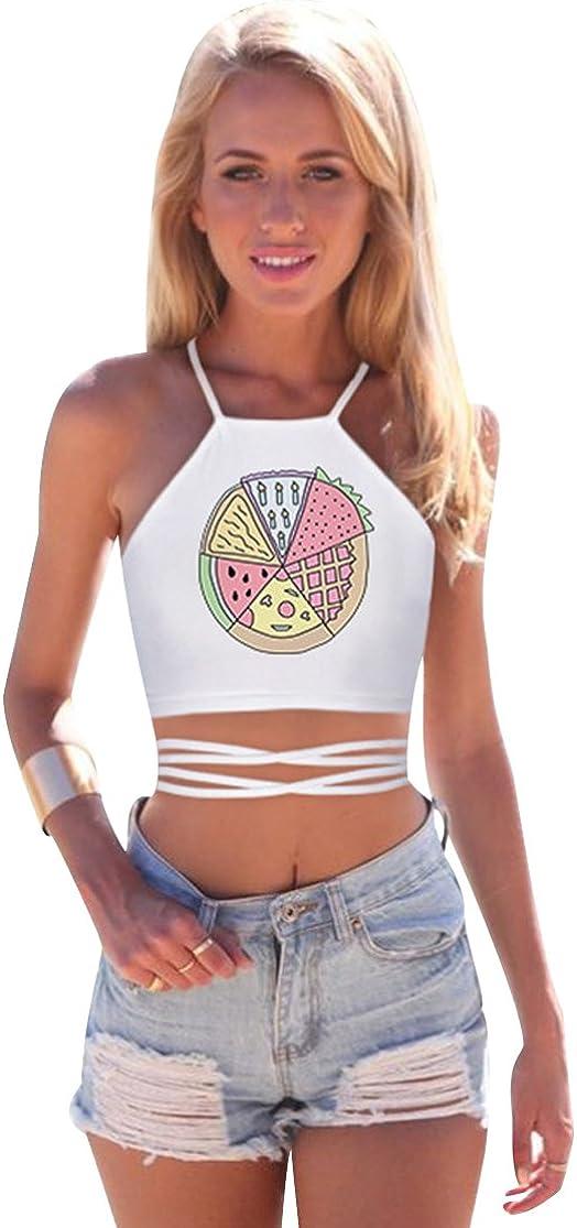 Imprimé Plain Crop Top Débardeur Femme Femme à mancherons extensible Belly Tee T-Shirt