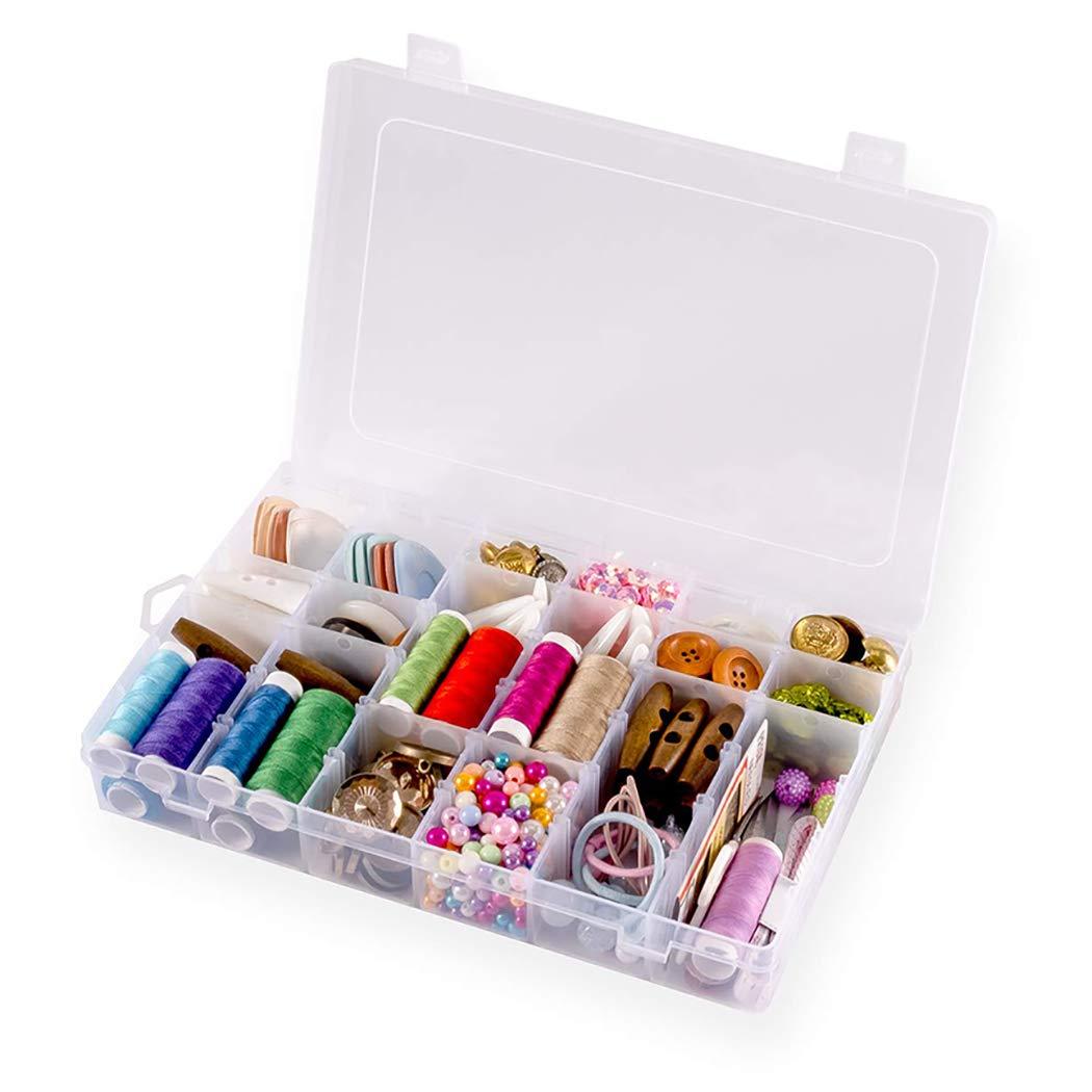 COOFIT Grid Box 36-Grid Plastic Divider Removable Jewelry Storage Box Contenedor de joyer/ía