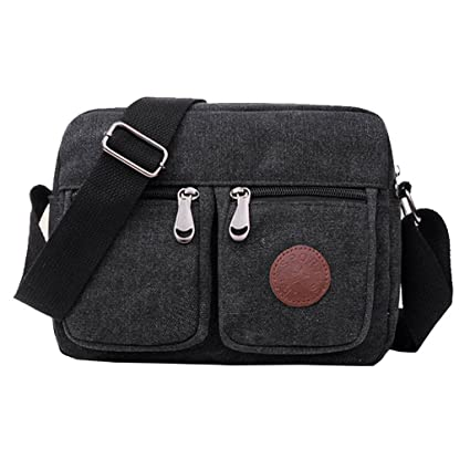 Super Modern Men Small Vintage Canvas Messenger Bag Cross Body Pack  Organizer Satchel Durable Multi-Pocket Sling Shoulder  Amazon.in  Bags 8e6b74322fc17