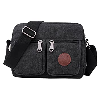 SUPA MODERN® Mens Messenger Bag Small Canvas Vintage Cross body bag Pack  Organizer Satchel Bag c5b5e04e9d7a0