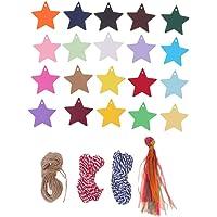 SUPVOX Etiqueta de papel 200pcs forma de estrella