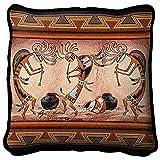 Black Forest Decor Kokopelli Pot Dance Pillow